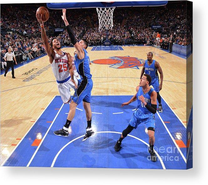 Nba Pro Basketball Acrylic Print featuring the photograph Derrick Rose by Jesse D. Garrabrant