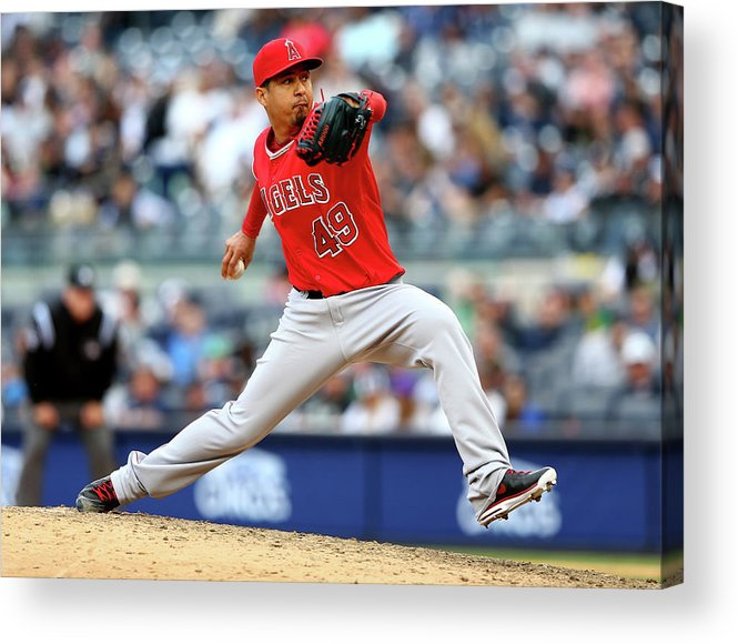 American League Baseball Acrylic Print featuring the photograph Ernesto Frieri by Elsa