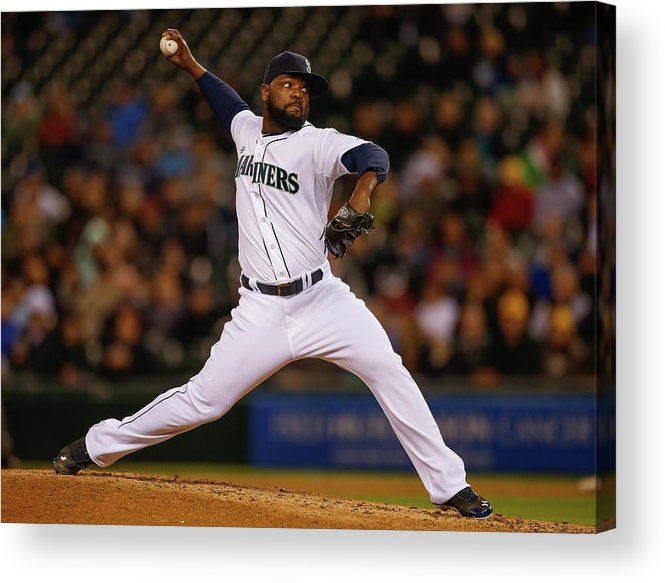 Ninth Inning Acrylic Print featuring the photograph Fernando Rodney by Otto Greule Jr