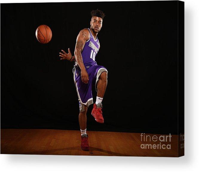 Nba Pro Basketball Acrylic Print featuring the photograph Frank Mason by Brian Babineau