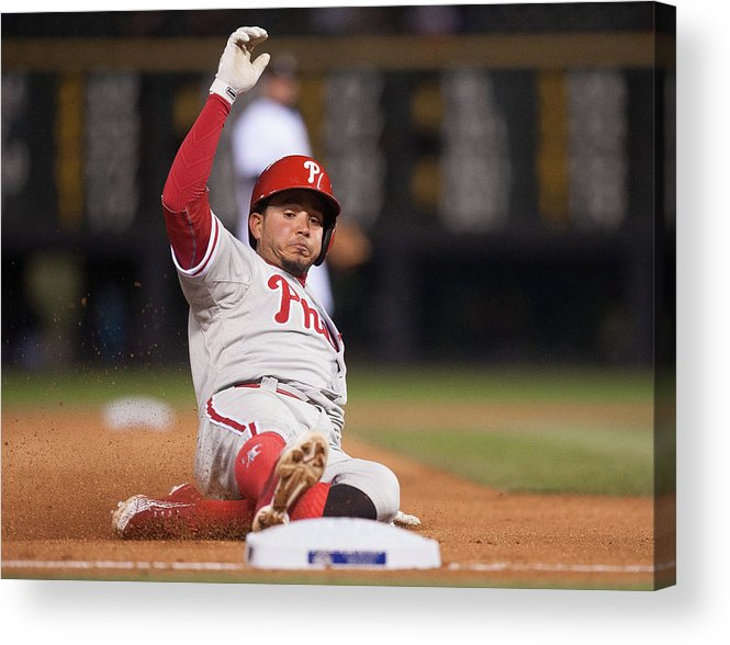 People Acrylic Print featuring the photograph Freddy Galvis by Dustin Bradford