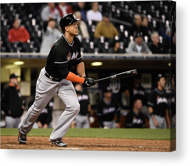 California Acrylic Print featuring the photograph Giancarlo Stanton by Denis Poroy
