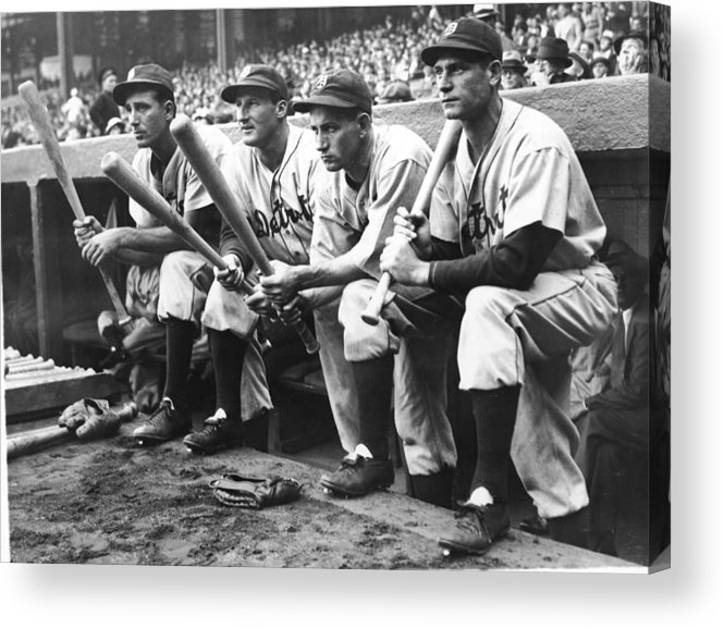 People Acrylic Print featuring the photograph Hank Greenberg and Goose Goslin by Fpg