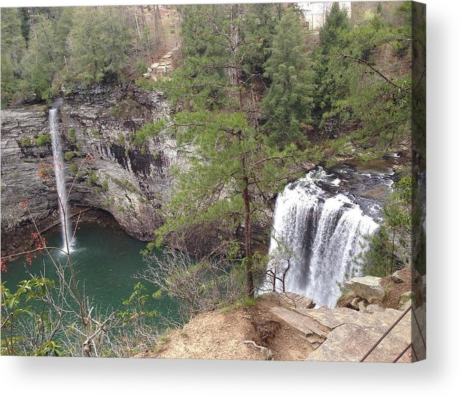 Scenics Acrylic Print featuring the photograph High Angle View Of Fall Creek Falls by Eddie Caldwell / EyeEm