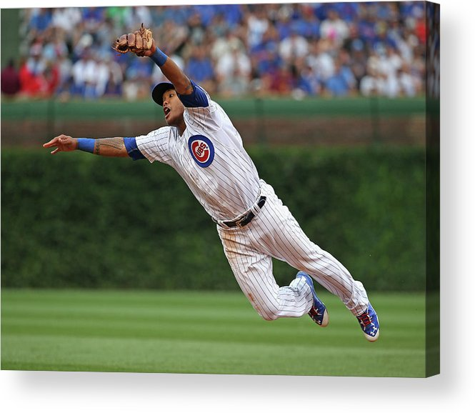 People Acrylic Print featuring the photograph Hunter Pence and Addison Russell by Jonathan Daniel