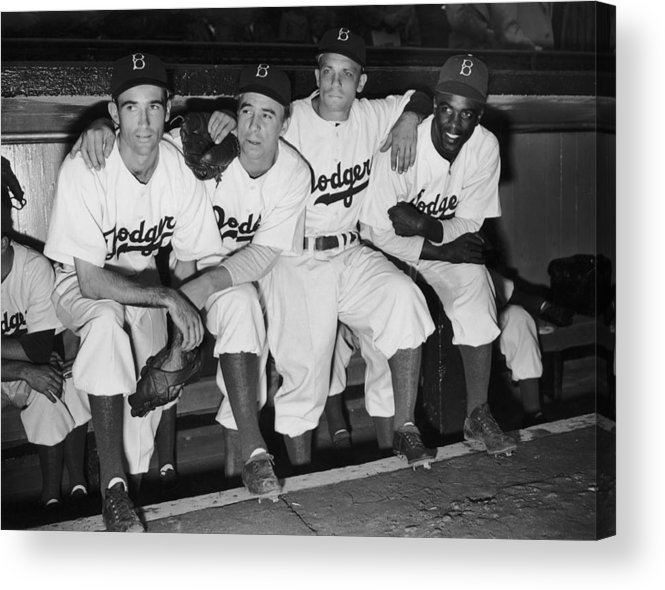 People Acrylic Print featuring the photograph Jackie Robinson by Fpg