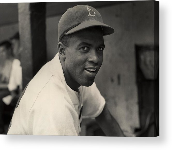 Jackie Robinson Acrylic Print featuring the photograph Jackie Robinson by Hulton Archive