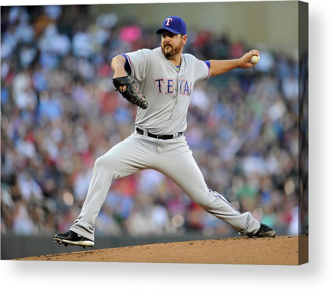 American League Baseball Acrylic Print featuring the photograph Joe Saunders by Hannah Foslien