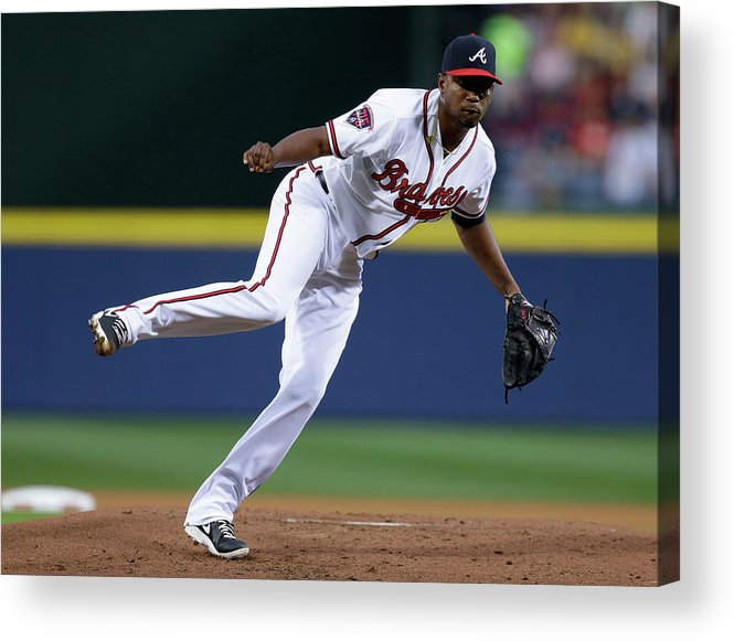 Atlanta Acrylic Print featuring the photograph Julio Teheran by Mike Zarrilli