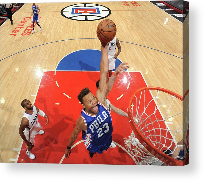 Nba Pro Basketball Acrylic Print featuring the photograph Justin Anderson by Andrew D. Bernstein