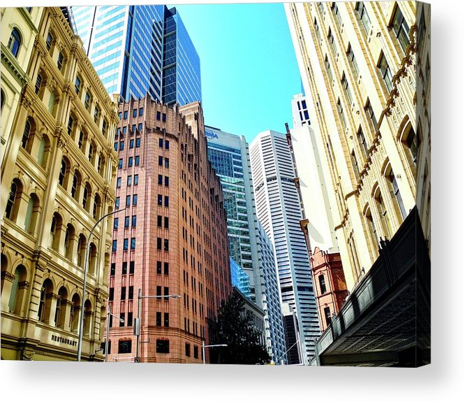 King Street Buildings Acrylic Print featuring the photograph King Street Buildings in Sydney by Kirsten Giving