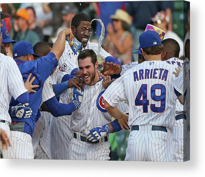 National League Baseball Acrylic Print featuring the photograph Matt Szczur by Jonathan Daniel