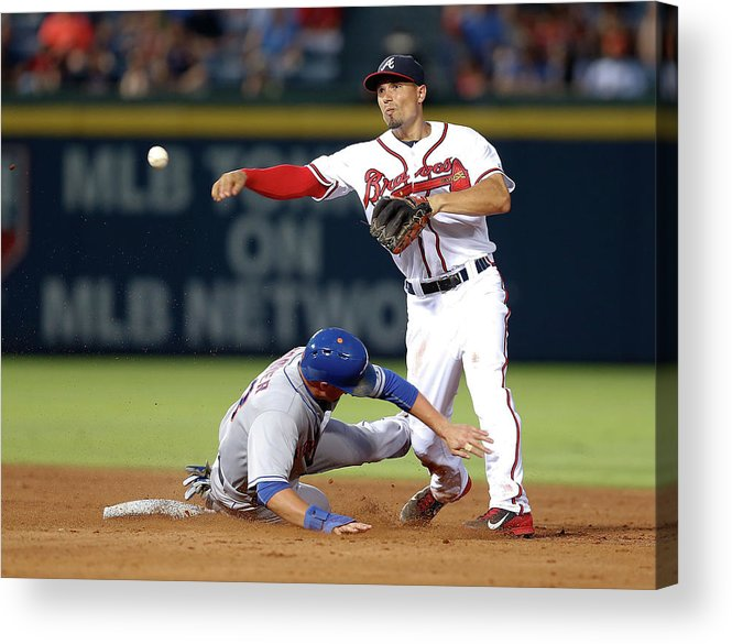 Atlanta Acrylic Print featuring the photograph Michael Cuddyer and Jace Peterson by Mike Zarrilli