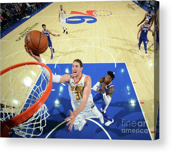 Nba Pro Basketball Acrylic Print featuring the photograph Mike Muscala by Jesse D. Garrabrant