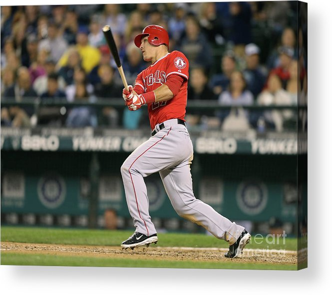 People Acrylic Print featuring the photograph Mike Trout by Otto Greule Jr