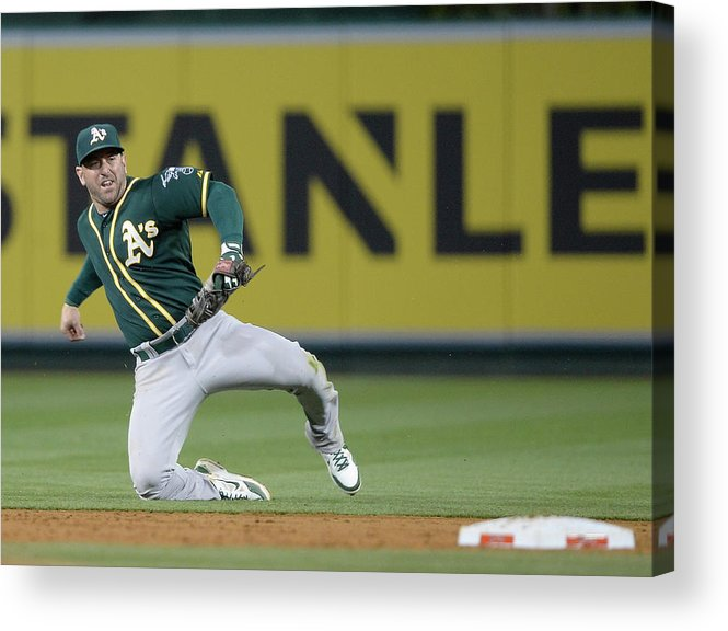 Second Inning Acrylic Print featuring the photograph Nick Punto and Chris Iannetta by Harry How