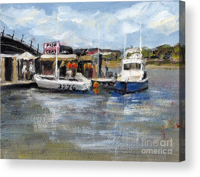 California Acrylic Print featuring the painting Pearson's Port Crab Shack by Randy Sprout