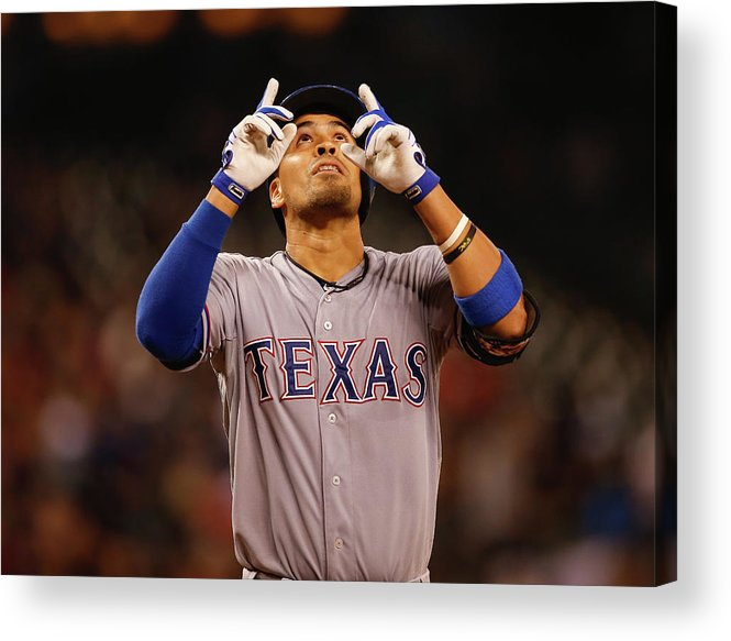 American League Baseball Acrylic Print featuring the photograph Robinson Chirinos by Otto Greule Jr