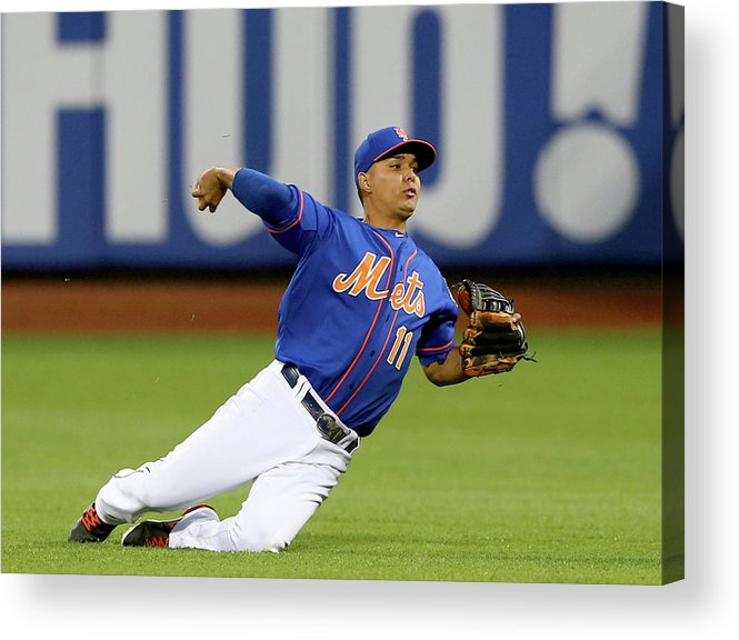 Second Inning Acrylic Print featuring the photograph Ruben Tejada by Elsa
