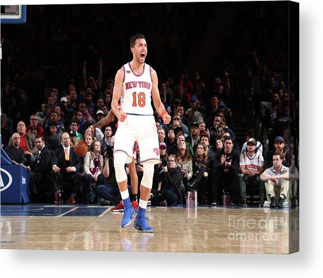 Nba Pro Basketball Acrylic Print featuring the photograph Sasha Vujacic by Nathaniel S. Butler