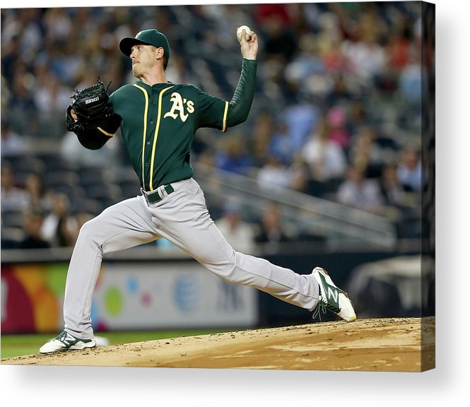American League Baseball Acrylic Print featuring the photograph Scott Kazmir by Elsa