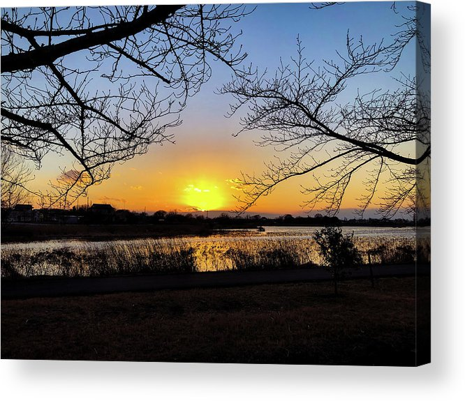 Sunset Acrylic Print featuring the photograph Tatebayashi Sunset by Kiyoto Matsumoto