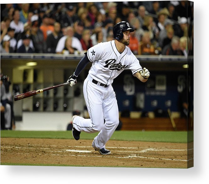 American League Baseball Acrylic Print featuring the photograph Yonder Alonso by Denis Poroy