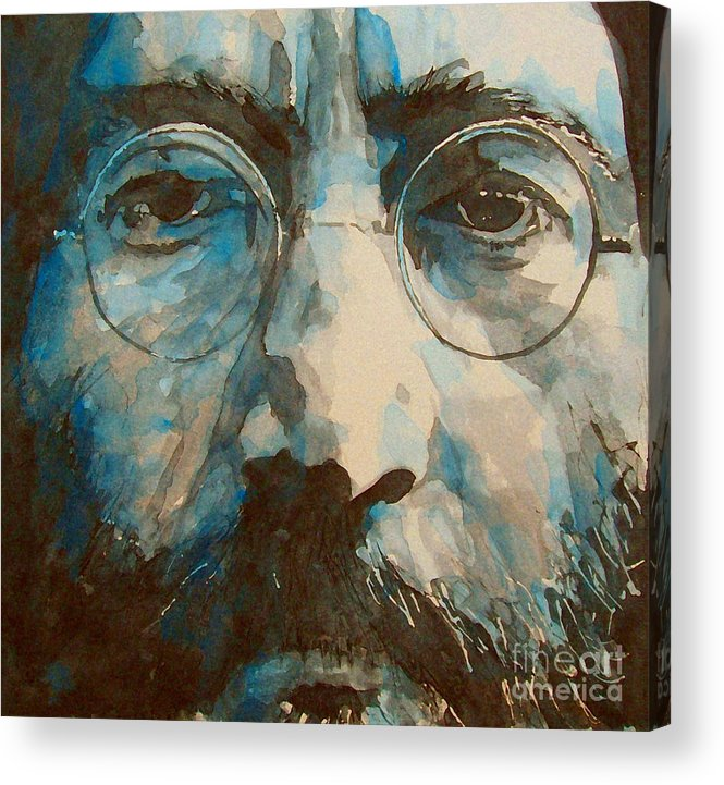 John Lennon Acrylic Print featuring the painting I was the Dreamweaver by Paul Lovering