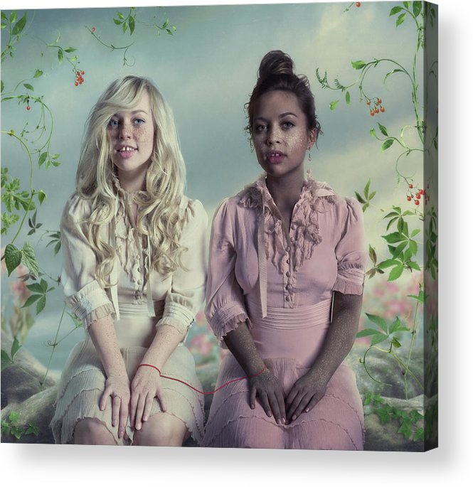 People Acrylic Print featuring the photograph Another Twins by Vizerskaya