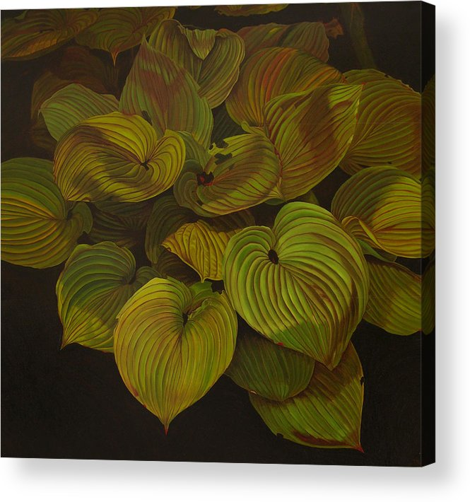 Plants Acrylic Print featuring the painting Arkansas Green by Thu Nguyen