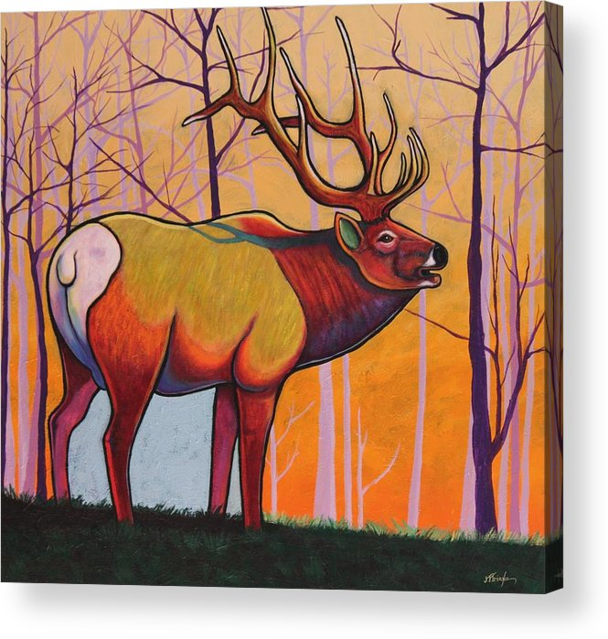 Wildlife Acrylic Print featuring the painting Eternal Warrior by Joe Triano