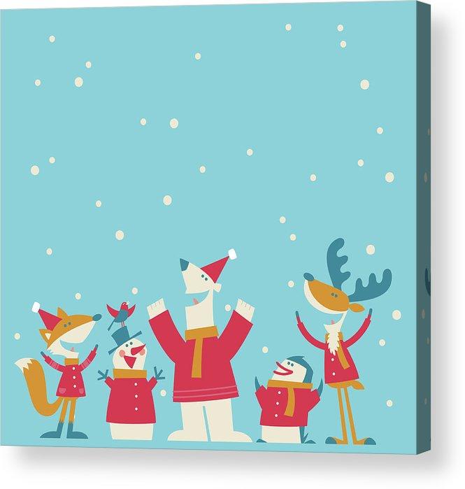 Elf Acrylic Print featuring the digital art Happy Christmas by Akindo