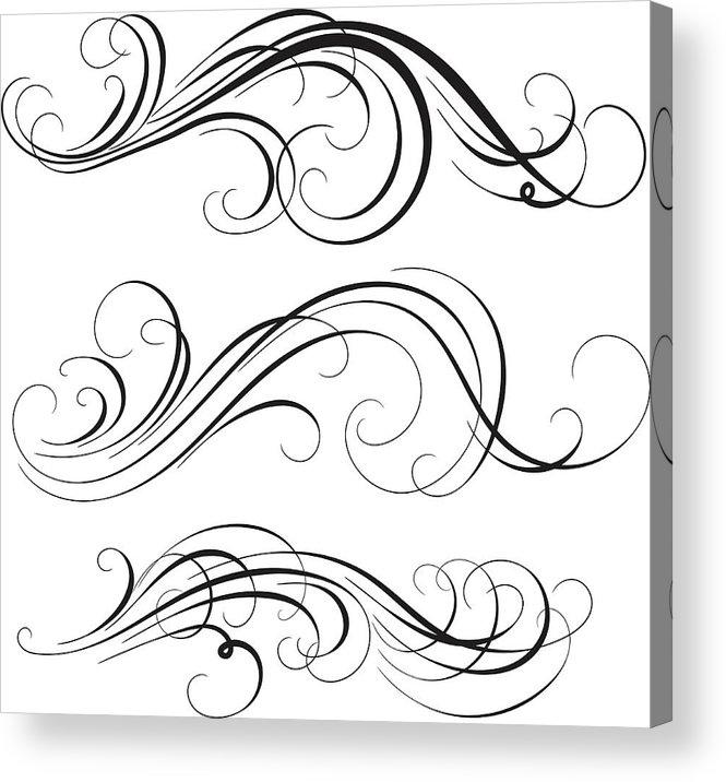 Curve Acrylic Print featuring the digital art Swirl by Mashuk