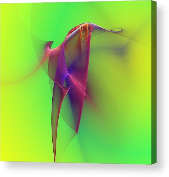 Abstracts Acrylic Print featuring the digital art Abstract 091610 by David Lane