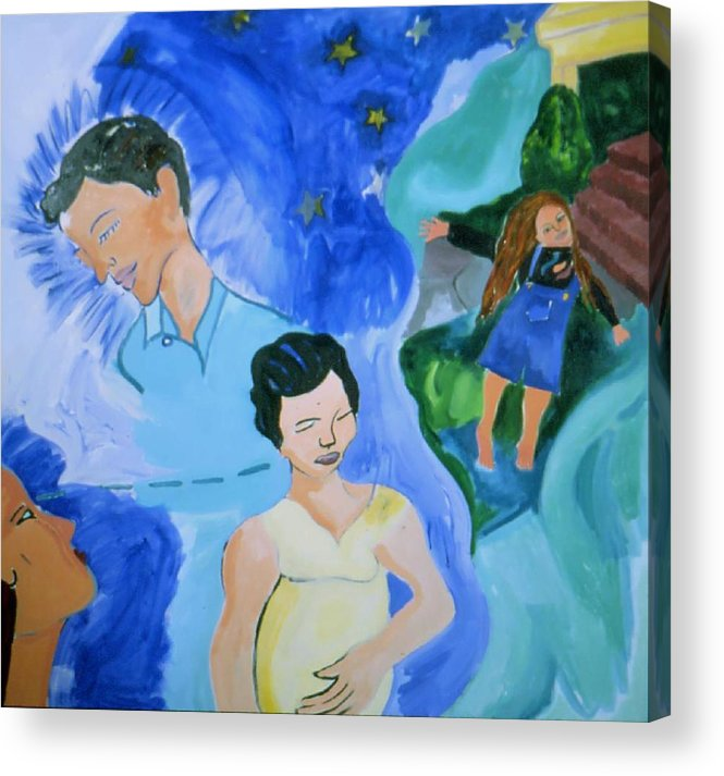 Spiritual Family Portrait Acrylic Print featuring the painting Bella by Nina Talbot