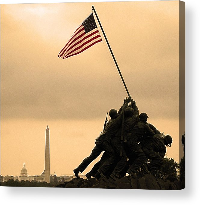 Marine Corps Memorial Acrylic Print featuring the photograph Freedom by Mitch Cat