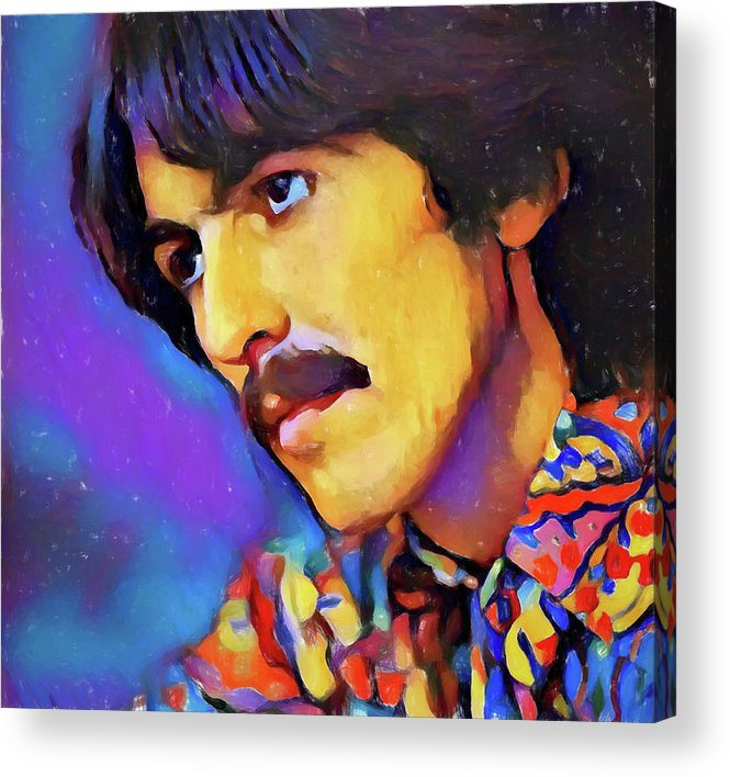 George Harrison Acrylic Print featuring the painting George Harrison by Dan Sproul