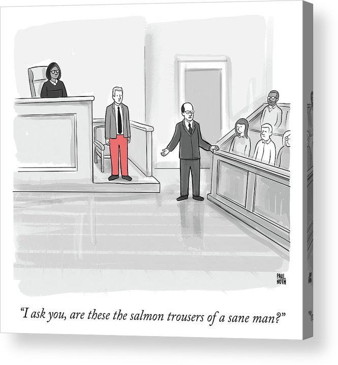 """""""i Ask You Acrylic Print featuring the drawing I ask you by Paul Noth"""