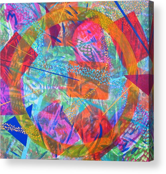 Abstract Acrylic Print featuring the painting Microcosm IV by Rollin Kocsis