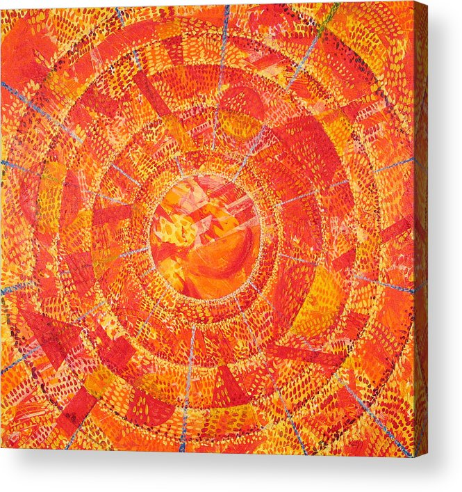 Abstract Acrylic Print featuring the painting Microcosm XIX by Rollin Kocsis