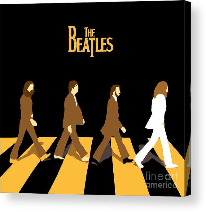 The Beatles Acrylic Print featuring the digital art The Beatles No.19 by Geek N Rock