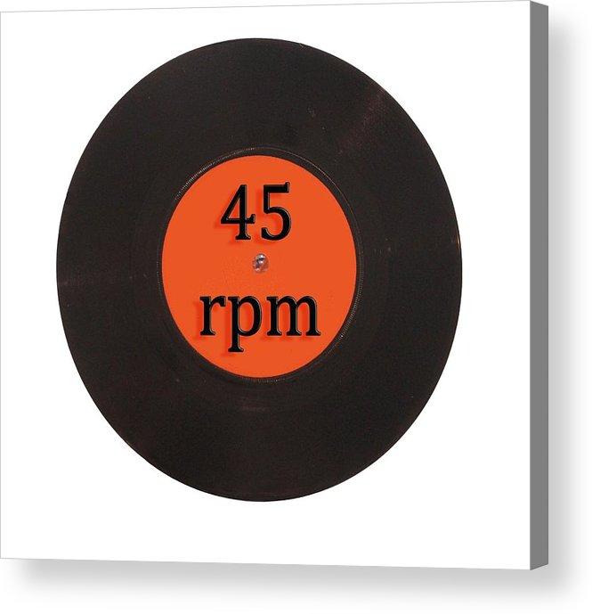 Vintage Acrylic Print featuring the digital art Vinyl record vintage 45 rpm single by Tom Conway