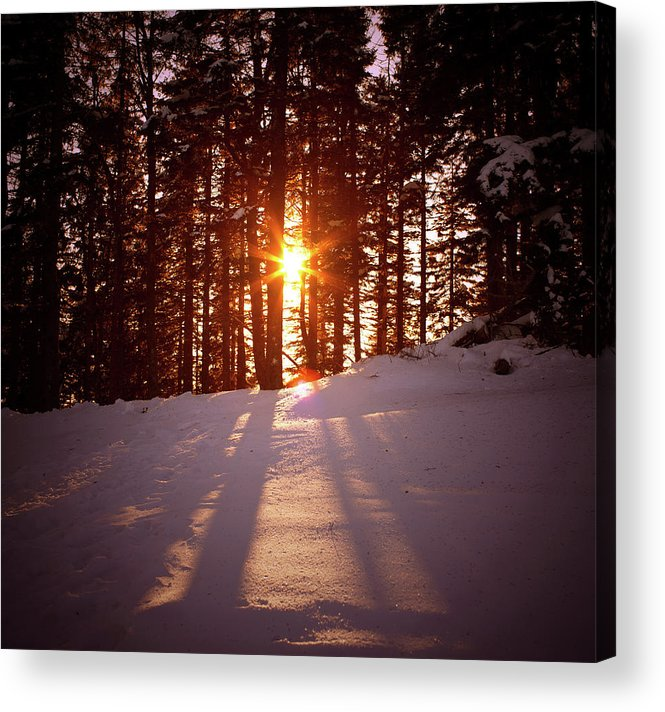Scenics Acrylic Print featuring the photograph Winter Sunset by Borchee