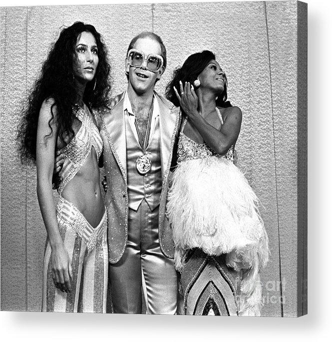 Cher Acrylic Print featuring the photograph Mark Sullivan 70s Rock Archive by Mark Sullivan