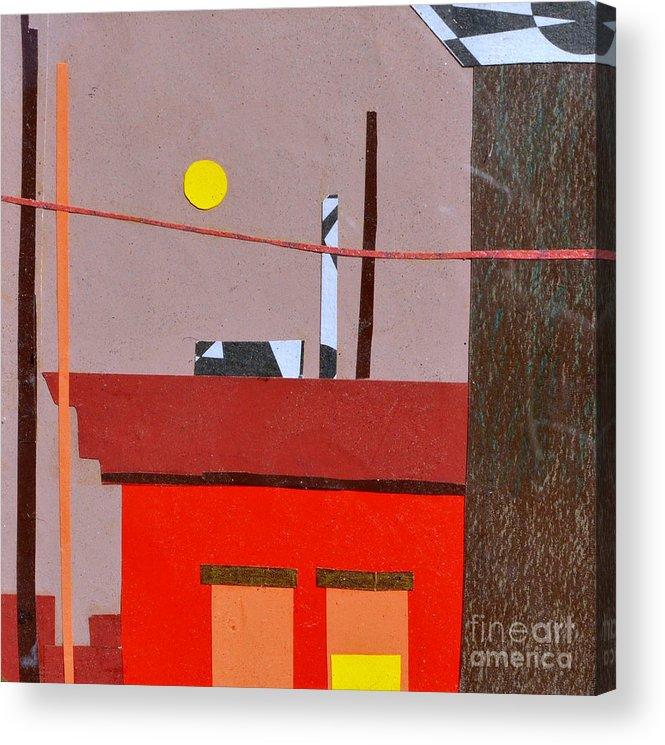 City Acrylic Print featuring the mixed media Hazy Rooftops 2 by Debra Bretton Robinson