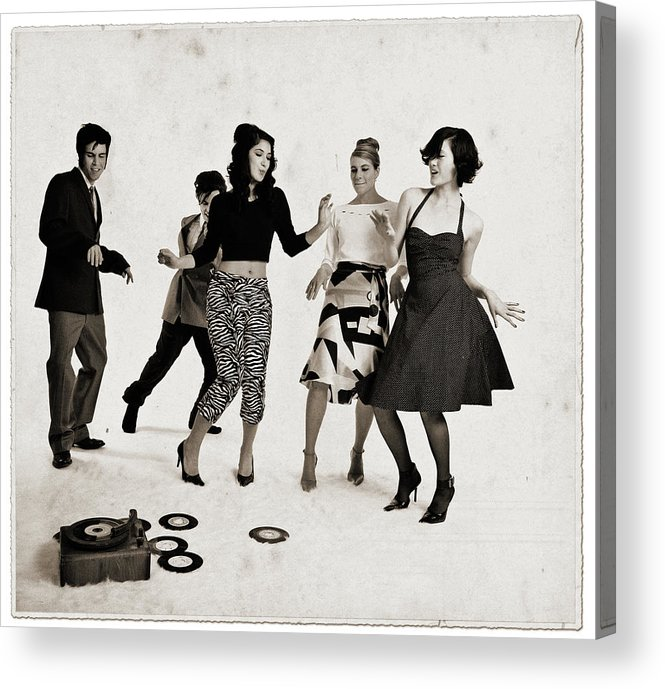 People Acrylic Print featuring the photograph Party by Lisegagne