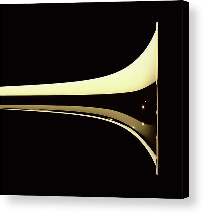 Curve Acrylic Print featuring the photograph Trumpet by Plainview