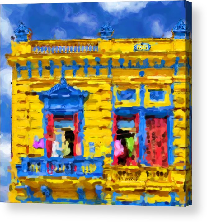 Buenos Aires Acrylic Print featuring the mixed media Buenos Aires by Asbjorn Lonvig