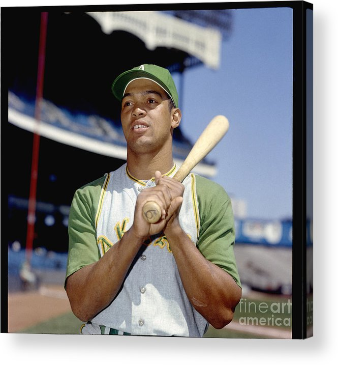American League Baseball Acrylic Print featuring the photograph Reggie Jackson by Louis Requena