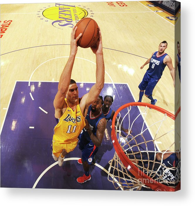 Nba Pro Basketball Acrylic Print featuring the photograph Brook Lopez by Andrew D. Bernstein
